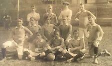 Real Photo Postcard RPPC ~ College Men's Soccer Team 1914 Europe ~ Sports