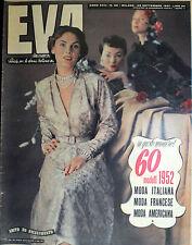 """* EVA N°40/ 29/SET/1951 * Rivista per la donna italiana diretta da """" Sonia """" *"""