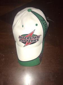 Bobby Labonte Interstate Batteries Nascar #18 Baseball Hat Cap White Green