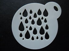 Laser cut small rain drops design cake,cookie,craft & face painting stencil