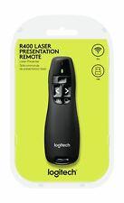 Logitech R400 Wireless Präsentation Schwarz Presenter Laser Funk USB Pointer