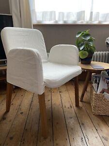 Ikea Ekhard Chair Covers Cream New x 4