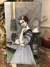 Portrait De Femme 19E En Émail