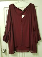Autograph Sheer Layered Top Size 26