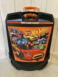 Hot Wheels Black Rolling Carry Case Holds 100 Cars Storage No. 20135 Tara Toys