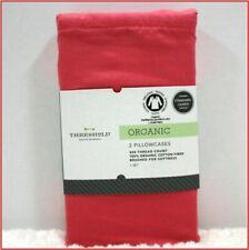 Threshold ORGANIC COTTON Pillowcases - 300 tc  Standard / QUEEN - PINK 🌟NEW🌟