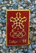 Calgary 88. Winter Olympic Games, Canada, official logo, antique pin, badge !