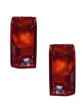 Tail Light Assemblies - Driver & Passenger Sides - Fits 91-92 Ford Ranger