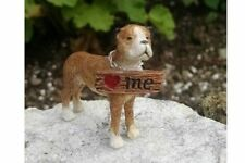Lovey the Puppy Dog Boxer Miniature Fairy Faerie Gnome Garden  Dollhouse WS 1418