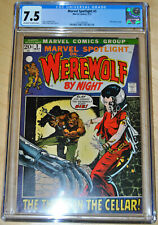 Marvel Spotlight #3 CGC 7.5 (Werewolf by Night) (OFF-WHITE TO WHITE PAGES) SWEET