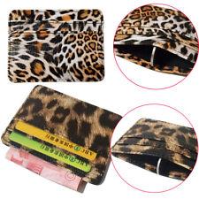 Mini PU Leather Classic Leopard Print Credit Card Holders ID  Card  Holders