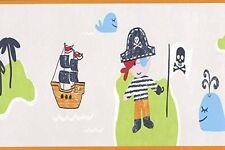 FRIENDLY PIRATE PIRATES GIRLS BOYS KIDS CHILDRENS WALLPAPER BORDER DLB50089