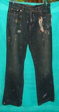 """Ralph Lauren"" Dark Navy Paint-splatter Cotton Women's Jeans~Sz. 10~NWT inseam32"
