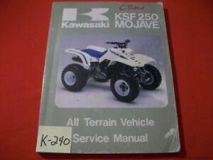 KAWASAKI ATV MOJAVE KSF 250 A1-A6 FACTORY SERVICE MANUAL #99924-1067-04 1987-92