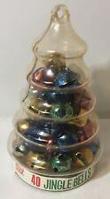 Vtg Criterion Jingle Bells (40) Nos Valu-Pak Plastic Christmas Tree Multi Color