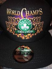 NBA Boston Celtics 17 Time World Champs SnapBack Hat New Era Cap