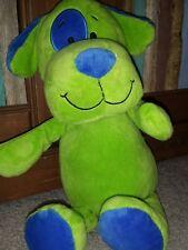 Beverly Hills TEDDY BEAR COMPANY GREEN BLUE DOG PLUSH PLUSHY STUFFED ANIMAL