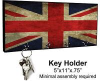 KEY HANGER HOLDER RACK ENGLISH #S1 Union Jack British Brittian United Kingdom UK