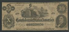 Csa #T-46 $10 1862 Confederate States Of America Choice Vf-Xf Bu6768