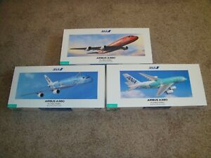 """1/200 Hogan ANA Official Airbus A380 """"FLYING HONU"""" x 3 Complete Set"""