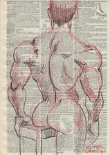 Male Nude Study-  Fine Art Drawing- Direct from & Signed by Artist