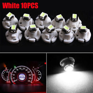 10x White T4 T4.2 Neo Wedge 1-SMD LED Light Cluster Instrument Dash Climate Bulb