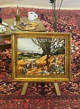 "Paul Saltarelli Miniature Painting Dollhouse Doll House ""The Harvesters"" - 1983"