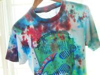 Vtg 90s Super Cities Walk Tie Dye Surf Skate Grunge Vaporwave 50/50 T Shirt M/L