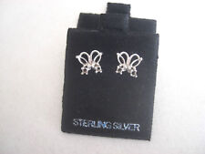 BUTTERFLY SEMI MOUNT EARRING SETTINGS .925 STERLING SILVER W/BACKS & SHIPPING!