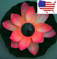 Solar Power Lotus Flower Light LED Pool Color Changing Outdoor Night View