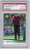 2001 Upper Deck #1 Tiger Woods RC Rookie - MINT - PSA 9