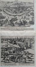 Maastricht 1577 Baudart 2 prenten