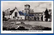 VINTAGE RP POSTCARD CHURCH OF HOLY RUDE & GUILDHALL STIRLING NR ALLOA DUNBLANE