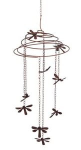 Dragonfly Slinky Metal Mobile Wind Chime NEW garden porch deck summer airy art