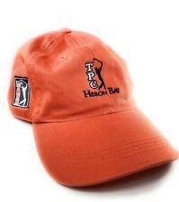 PGA Tour TPC Heron Bay Orange Golf 4Head Head Gear Adjustable Hat Cap