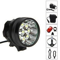 25000Lm XML T6 LED Mountain Bike Light Bicycle Cycling Front Headlamp Charged