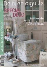 De Fil en Aiguille ATELIER DE BRODEUSE Spécial Déco No 60 S - Février /Mars 2008