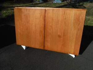 Kraftmaid W3018BUTT Cherry Honey Spice Wall Cabinet with Two Flaxton Doors