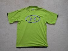 SS SHIRT - Under Armour - Chartreuse Green with Camo - Heat Gear - Small