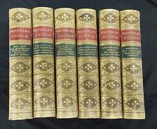 Lot 6 The Wavery Novels Sir Walter Scott 1875 Marbled closed pages Half Calf