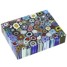 GlassOfVenice Murano Glass Millefiori Rectangle Paperweight - Large