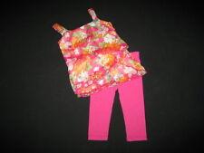 "NEW ""ISLAND ORCHID Fushia"" Capri Pants Girls 3T Spring Summer Clothes Toddler"