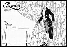 PUBBLICITA' 1921 CINZANO VINO VERMOUTH SPUMANTI TORINO CAMERIERE ELEGANZA WINE