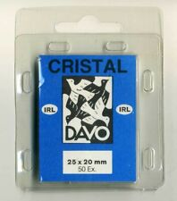 2 Pack Davo Cristal Stamp Mounts 25mm X 20mm Pack of 50
