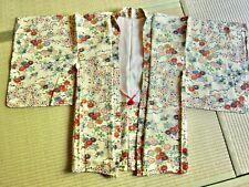 Giacca Giapponese Haori Vintage Kimono 100%seta Fiori misti Giapponesi NUOVO!