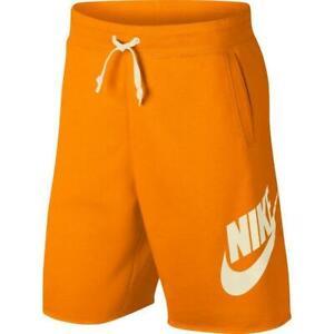NEW (sz L) Nike Sportswear Alumni Fleece Shorts Orange Peel AR2375-833