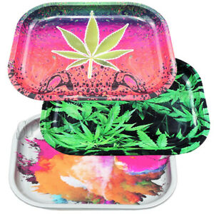 NEW 1 Piece Rolling Tray Tobacco Metal Tray For Smoking Accessory Random Pattern