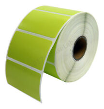 28 Rolls 28000 Labels 2.25 x 1.25 Direct Thermal Zebra GREEN LP2824 ZP450 LP2844
