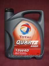 5ltr. Total Cuarzo 5000 15W-40 Mineral Aceite de Motor / Aceite de Motor