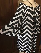 WOMENS PLUS DRESS 1X TUNIC TOP NEW 14 16 XL NWT CUTE OFF SHOULDER SUMMER DEAL